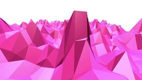 Ροδοειδής ή ρόδινη χαμηλή πολυ ταλαντεμένος επιφάνεια ως μοντέρνο τρισδιάστατο υπόβαθρο Polygonal κόκκινο δομένος περιβάλλον μωσα απεικόνιση αποθεμάτων