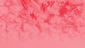 Ροδοειδής ή ρόδινη χαμηλή πολυ ταλαντεμένος επιφάνεια ως σκηνικό γεωμετρίας Κόκκινο polygonal γεωμετρικό δομένος περιβάλλον ή διανυσματική απεικόνιση