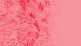 Ροδοειδής ή ρόδινη χαμηλή πολυ ταλαντεμένος επιφάνεια ως υπόβαθρο κινούμενων σχεδίων Polygonal κόκκινο δομένος περιβάλλον ή να κυ απεικόνιση αποθεμάτων