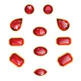 Ροδοκόκκινα απομονωμένα σύνολο αντικείμενα διανυσματική απεικόνιση