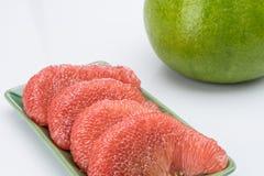 Ροδοκόκκινα Pomelo του Σιάμ φρούτα Στοκ Φωτογραφία
