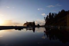 Ροδοκόκκινη παραλία Στοκ φωτογραφίες με δικαίωμα ελεύθερης χρήσης