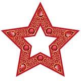 Ροδοκόκκινο απομονωμένο αστέρι αντικείμενο ελεύθερη απεικόνιση δικαιώματος