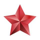 Ροδοκόκκινο απομονωμένο διάνυσμα αντικείμενο αστεριών ελεύθερη απεικόνιση δικαιώματος