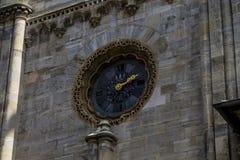 Ρολόγια στον καθεδρικό ναό του ST Stephan Στοκ Εικόνες