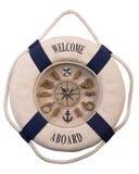 ρολόγια lifebuoy Στοκ εικόνα με δικαίωμα ελεύθερης χρήσης