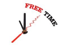 Ρολόι έννοιας ελεύθερου χρόνου που απομονώνεται Στοκ Εικόνα