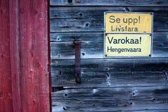 Ρολόι έξω, κίνδυνος Στοκ Εικόνες