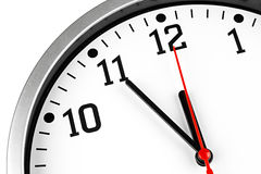 ρολόι 5 έως 12 Στοκ Εικόνες