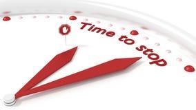 Ρολόι με τα χέρια που δείχνουν το χρόνο λέξεων να σταματήσει ελεύθερη απεικόνιση δικαιώματος