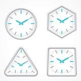 Ρολόι με τη διαφορετική μορφή Στοκ Εικόνα
