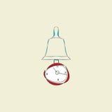 Ρολόι με το εκκρεμές και το συναγερμό ελεύθερη απεικόνιση δικαιώματος
