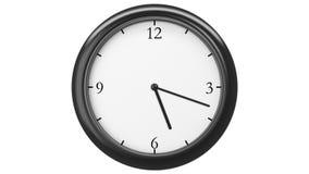 Ρολόι με το χρονικό σφάλμα δώδεκα ώρας Μπροστινή όψη HD 1080 Περιτυλιγμένη ζωτικότητα απόθεμα βίντεο