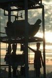 Ρολόι νερού αποβαθρών Southwold Στοκ Εικόνες
