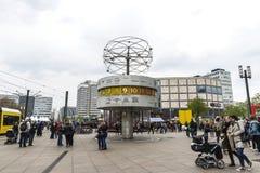 Ρολόι παγκόσμιου χρόνου Weltzeituhr στο Βερολίνο, Γερμανία Στοκ Φωτογραφίες