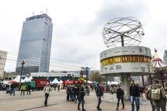 Ρολόι παγκόσμιου χρόνου Weltzeituhr στο Βερολίνο, Γερμανία Στοκ φωτογραφία με δικαίωμα ελεύθερης χρήσης