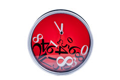 Ρολόι που απομονώνεται δημιουργικό Στοκ φωτογραφίες με δικαίωμα ελεύθερης χρήσης