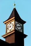 Ρολόι πύργων στο $ροστόκ Στοκ Εικόνες
