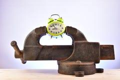 Ρολόι σε μια κακία στοκ εικόνες