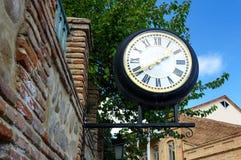 Ρολόι στην πόλη Signagi ή Sighnaghi Γεωργία Στοκ Εικόνα