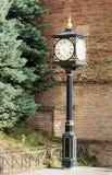 Ρολόι στην πόλη Signagi ή Sighnaghi Γεωργία Στοκ Εικόνες