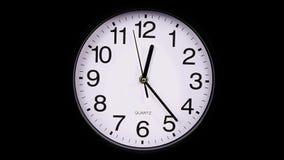 ρολόι στις μαύρο 00:00 TimeLapse απόθεμα βίντεο