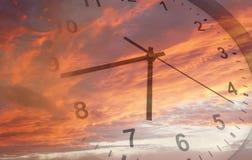 Ρολόι στον ουρανό Στοκ εικόνα με δικαίωμα ελεύθερης χρήσης