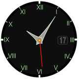 Ρολόι στο Μαύρο Στοκ εικόνες με δικαίωμα ελεύθερης χρήσης