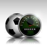 Ρολόι σφαιρών ποδοσφαίρου απεικόνιση αποθεμάτων
