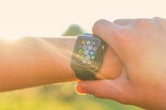 Ρολόι της Apple Στοκ εικόνες με δικαίωμα ελεύθερης χρήσης