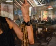Ρολόι τη νύχτα Στοκ φωτογραφίες με δικαίωμα ελεύθερης χρήσης