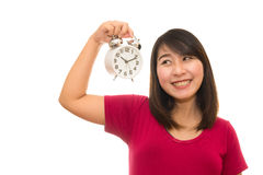 Ρολόι τοίχων εκμετάλλευσης εγκύων γυναικών Στοκ Εικόνες
