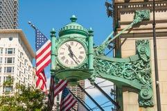 Ρολόι του Σικάγου στοκ φωτογραφίες με δικαίωμα ελεύθερης χρήσης