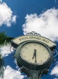 Ρολόι του ST Maarten Philipsburg Στοκ φωτογραφία με δικαίωμα ελεύθερης χρήσης