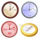 Ρολόι τώρα Στοκ εικόνα με δικαίωμα ελεύθερης χρήσης