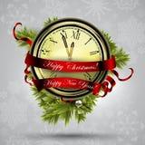 Ρολόι Χριστουγέννων Στοκ Φωτογραφία