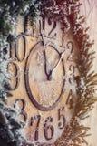 Ρολόι Χριστουγέννων στοκ εικόνες