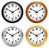 Ρολόι, χρόνος, ρολόι διανυσματική απεικόνιση