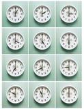 Ρολόι, ώρες της ημέρας Στοκ Φωτογραφίες