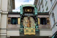 Ρολόι Anker Figural στη Βιέννη Στοκ Εικόνα