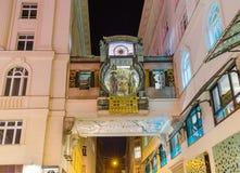 Ρολόι Ankeruhr σε Hoher Markt - τη Βιέννη Αυστρία Στοκ Φωτογραφία