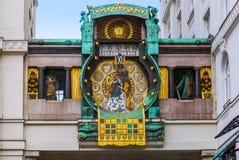 Ρολόι Ankeruhr σε Hoher Markt - τη Βιέννη Αυστρία Στοκ φωτογραφία με δικαίωμα ελεύθερης χρήσης
