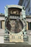 Ρολόι Astrologial Ankeruhr από Matsch, Βιέννη Στοκ φωτογραφία με δικαίωμα ελεύθερης χρήσης