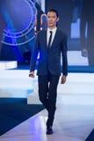 Ρολόι EXPO 2017, συνέντευξη τύπου στην αίθουσα γεγονότος, Si του Σιάμ Paragon Στοκ Φωτογραφία