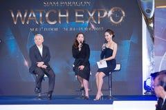 Ρολόι EXPO 2017, συνέντευξη τύπου στην αίθουσα γεγονότος, Si του Σιάμ Paragon Στοκ Φωτογραφίες