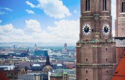 Ρολόι Frauenkirche στο Μόναχο, Βαυαρία, Γερμανία Στοκ εικόνες με δικαίωμα ελεύθερης χρήσης