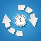Ρολόι Infographic κύκλων βελών ημίτονο ελεύθερη απεικόνιση δικαιώματος