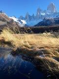 Ρυάκι και λόφος της Fitz Roy Στοκ εικόνα με δικαίωμα ελεύθερης χρήσης