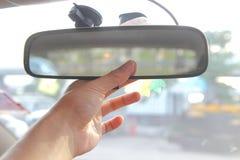 Ρυθμίστε τον οπισθοσκόπο καθρέφτη στοκ φωτογραφίες με δικαίωμα ελεύθερης χρήσης