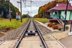 Ρυθμισμένο πέρασμα σιδηροδρόμου Στοκ φωτογραφίες με δικαίωμα ελεύθερης χρήσης